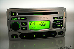 Original-Ford-6000CD-RDS-E-O-N-6000NE-6000-CD-Autoradio-Silber-Radio-Keycode