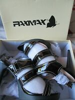 RAXMAX - Black ,PATENT LEATHER, SLINGBACKS - 4.5 inch Healed shoes size 8