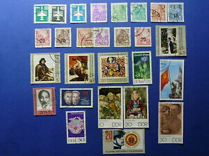 LOT-643-TIMBRES-STAMP-DIVERS-ALLEMAGNE-DDR-ANNEE-1957-1970