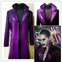 Jared Leto Joker Costume Suicide Squad Halloween Cosplay Costume Coat Pants
