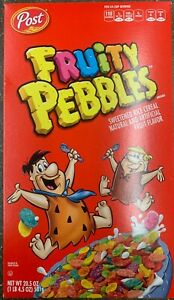 Details about NEW POST FRUITY PEBBLES CEREAL 20 5 OZ BOX SWEETEN FRUIT  FLAVORED RICE YUMMY