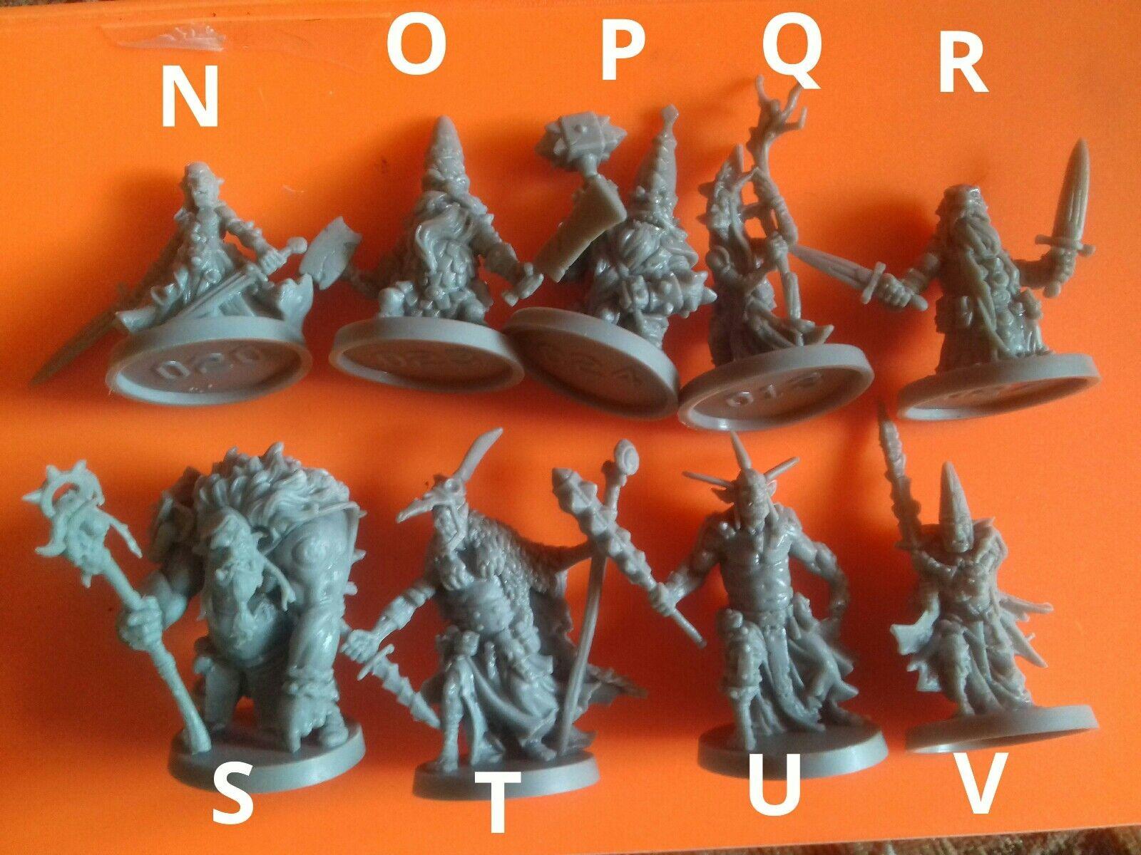 21x Goblin dwarf etc mix minions warriors massive darkness boardgame spare part