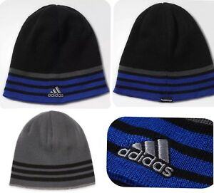 NEW ADIDAS Beanie HAT Young Men Youth Unisex Reversible Climawarm ... a9445bdb30b6