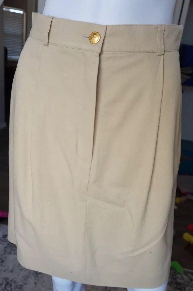 Escada Sport Womens Beige Tan Pencil Skirt Short Size 36