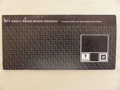 Einfach Pontiac 1973 General Information - Owner's Manual / Us-betriebsanleitung 1972