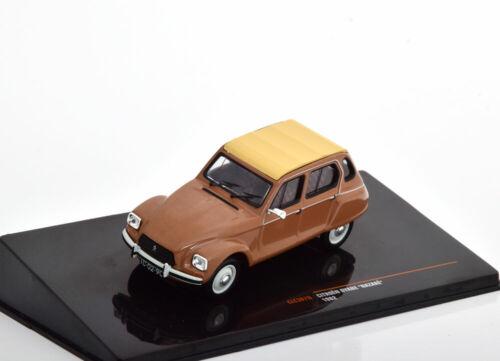 1:43 Ixo Citroën Dyane 6 Nazaré 1982 Brown//crema