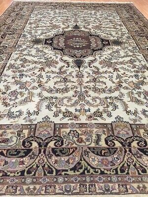 6' x 9' New Indian Kashan Oriental Rug - Hand Made - 100% Wool - Beautiful