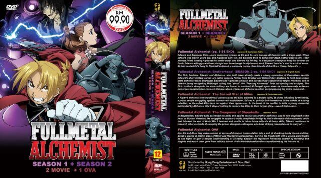 Anime DVD Fullmetal Alchemist Season 1 2 Episode 115 End Movie Eng Sub