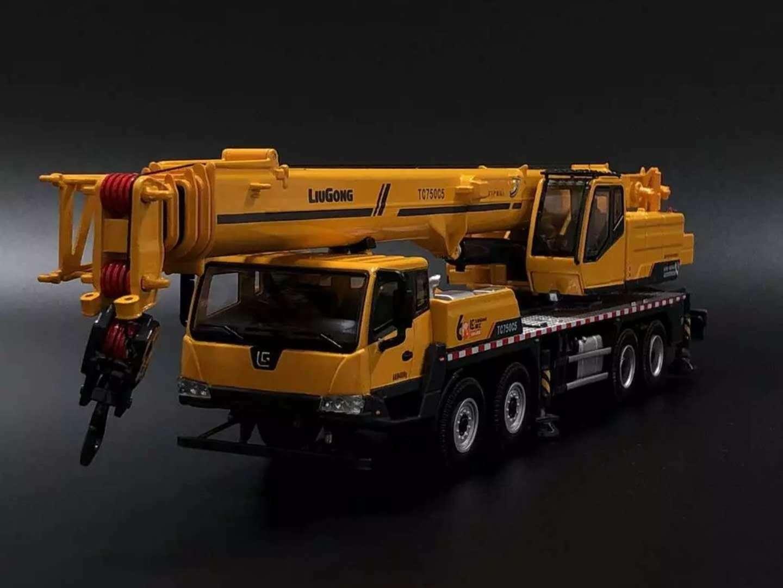 Diecast Toy Model 1 50 Liugong CLG TC750 Mobile Heavy Crane Contruction Vehicles