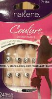 Nailene Couture 24 Glue-on Nails Starry Sky Silvertips+flowers+glit. 71164 1/10