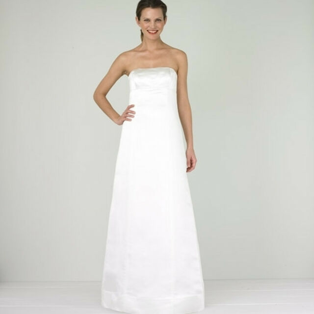 J CREW IVORY 100% SILK 2 SMALL VIVIAN WEDDING GOWN EMPIRE WAIST ...