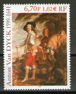 TIMBRE-3289-NEUF-XX-LUXE-ANTOON-VAN-DYCK-PEINTRE-FLAMAND-CHARLES-A-LA-CHASSE