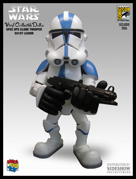 STAR WARS CLONE TROOPER 501ST VINYL ART FIGURE SDCC 2006 MEDICOM TOYS COMIC CON