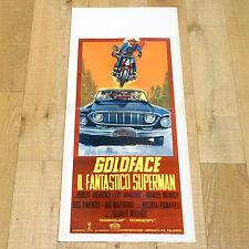 GOLDFACE IL FANTASTICO SUPERMAN locandina poster Super Eroe Moto Car AD48