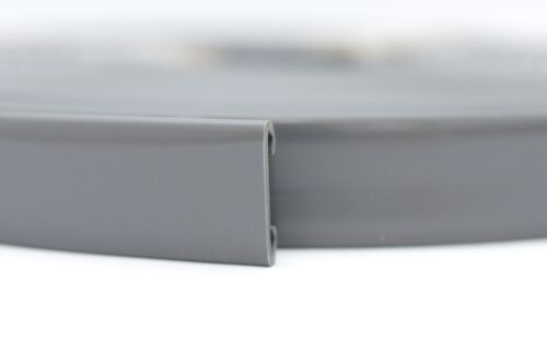 10m PVC Handlauf 40x8mm Treppenhandlauf Kunststoffhandlauf Gummi dunkelgrau