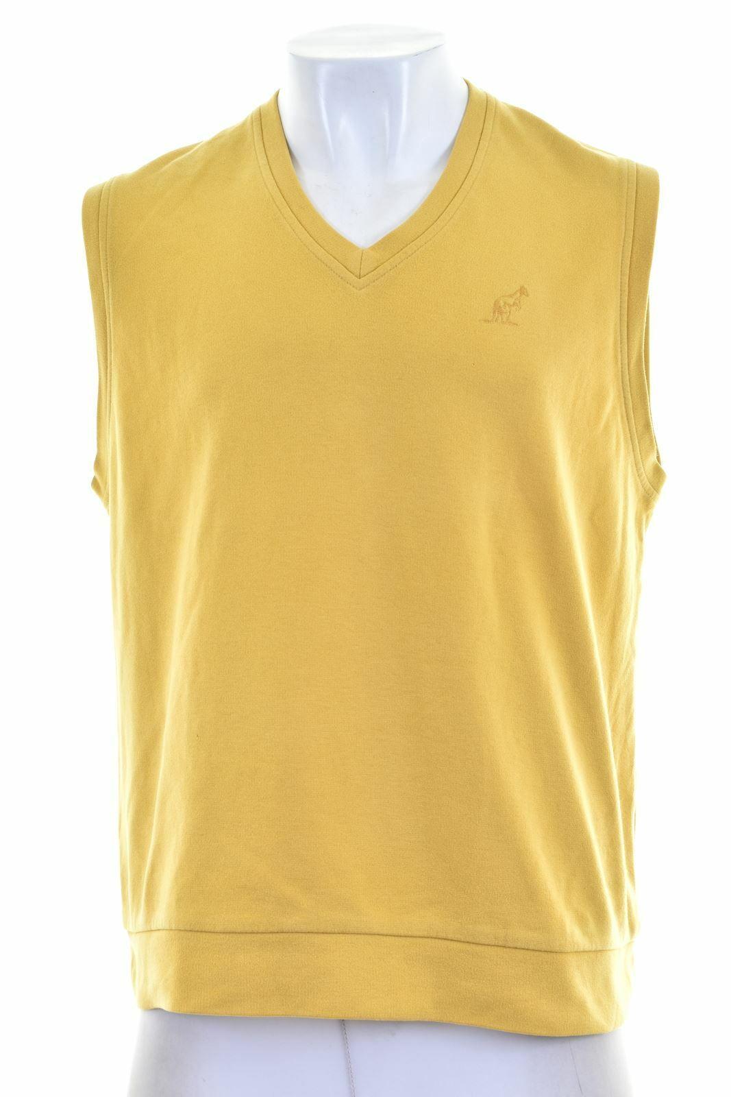 AUSTRALIAN L'ALPINA Mens Sweatshirt Jumper Sleeveless IT 52 Large Yellow NP01