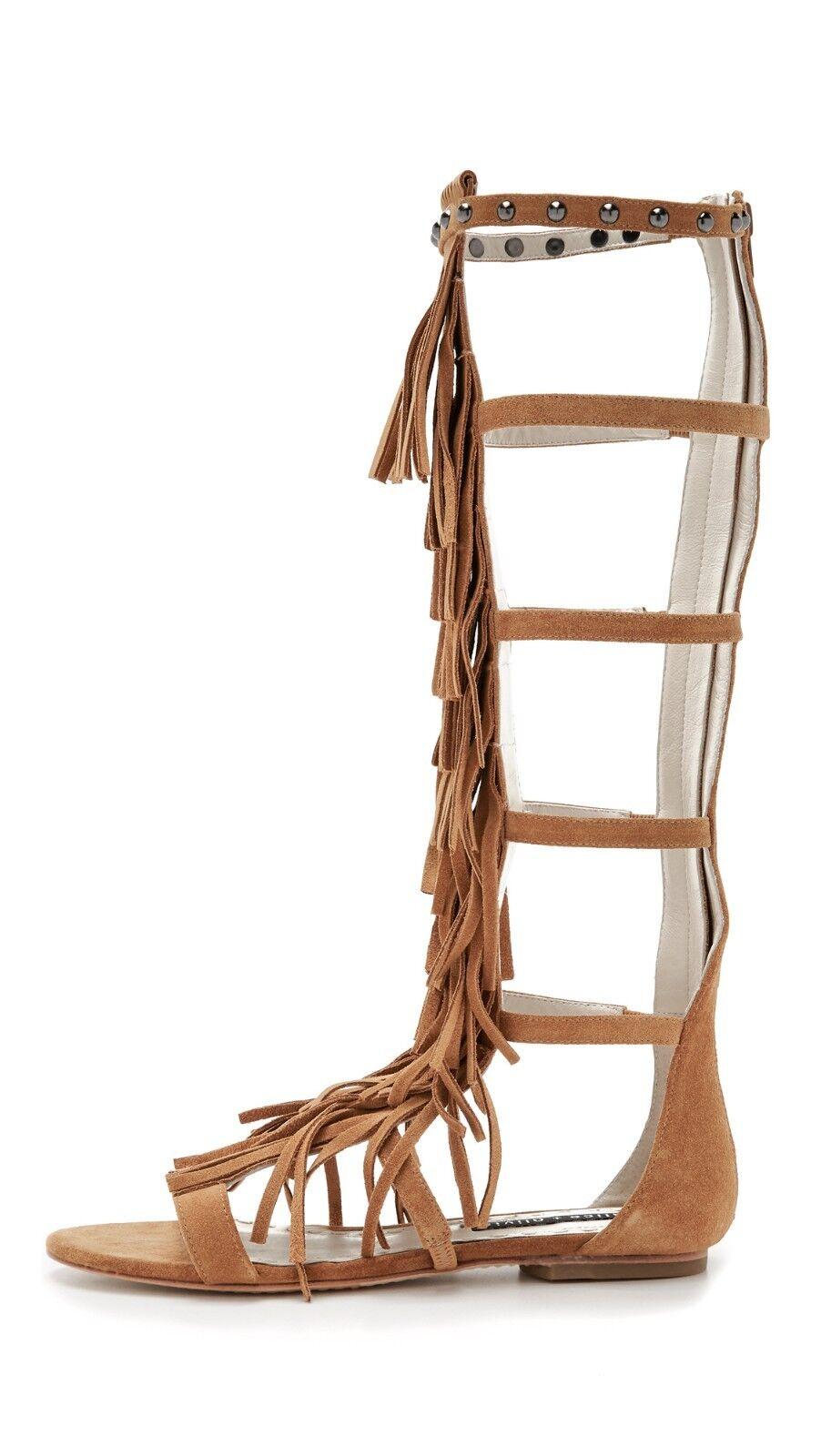 NIB  398 Alice Olivia Paula Suede Fringe Gladiator  Sandal (US 6.5) EU 36.5  acquista la qualità autentica al 100%