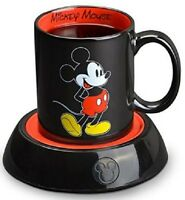 Coffee Mug Warmer Hot Plate W/ Cup Disney Mickey Mouse Cute Desktop Office Gift on sale