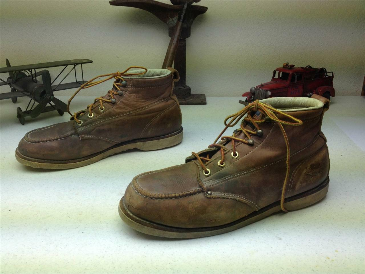 VINTAGE MADE IN USA FIELD N FOREST SPORT HUNTING BIRDING WORK CHORE BOOTS 13 EE