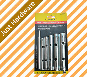 Tube Spanner Set 6 PC PCS  8 10 12 14 16mm