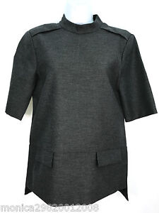 Size Ref Medium Top Short Grey 865 Blouse Zara 8282 Sleeve Bw1X04q
