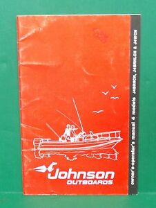 original 1982 johnson seahorse 4hp outboard owners manual j4brhcn rh ebay co uk Johnson Outboard 2 Cyl 4.0 Evinrude 6 HP Outboard Motor