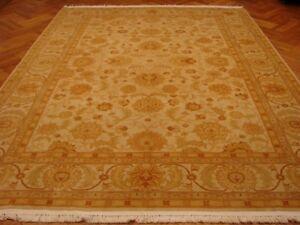 9x12 New Chobi Peshawar Pastel Tones Wool Handmade Beige
