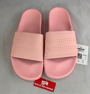 5b6f62c1f782a3 Image is loading New-Mens-Adidas-ADILETTE-Pantone-Slides-Sandals-Pink-