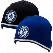 Official Licensed Product Chelsea Reversible Knitted Hat Beanie Winter Crest New