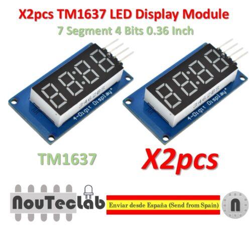 2pcs TM1637 Red Anode Digital Tube LED Module /& Clock 7 Segment 4 Bits 0.36 Inch