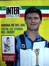 Inter Football Club n°9 1989 - Aldo Serena - con maxi poster di BOSBY  [GS35]