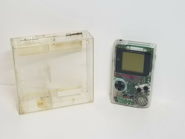 Original Game Boy CLEAR with Case + Tetris VERY CLEAN! DMG-01 TESTED COMPLETE