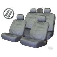 For Jeep Semi Custom Grey Velour Seat Steering Wheel Covers Full Set