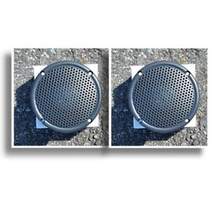 3-5-034-Motorcycle-Boat-Spa-Hot-Tub-Golf-Cart-Marine-Speakers-VX-S35GX-Charcoal-Gry