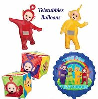 Teletubbies Foil Balloons Birthday Party Supplies Po, Laa Laa, Adorable & Cubz