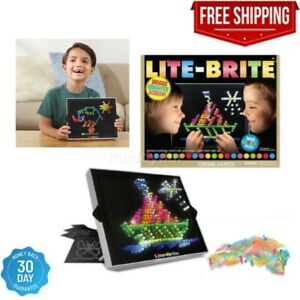 214 Pegs Magic Screen Retro Style Lite Brite Kids Toy Fun Light Bright Game Set