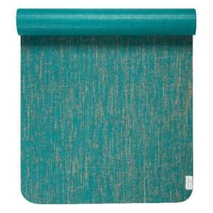 Evolve By Gaiam Jute Yoga Mat Teal 5mm Thick Indoor Outdoor Activity Ebay