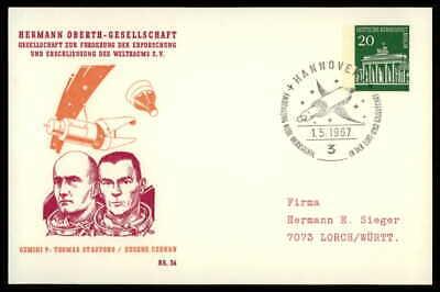 Berlin Privat-ga 1967 Weltraum Space Bausteinlarte 36 Hog Hermann Oberth Ep39 Profitieren Sie Klein