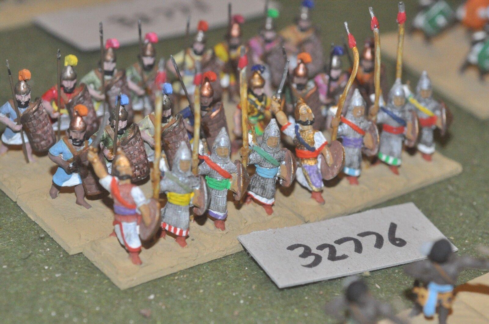25mm biblical     assyrian - spearmen 24 figures - inf (32776) a84