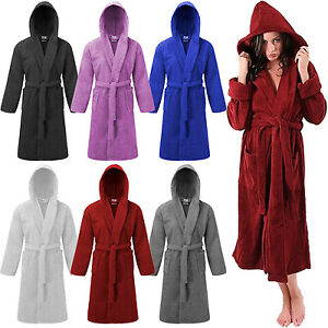 643ab15ec9 Image is loading 100-Cotton-Terry-Mens-Ladies-Dressing-Gown-Towelling-
