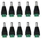 10Pcs 5.5 x 2.1mm DC Power Male Jack Adapter Connector for CCTV Camera / LED