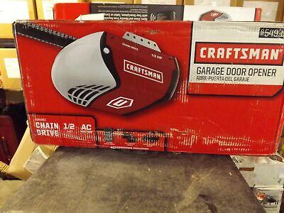 Craftsman 1 2 Hp Chain Drive Garage Door Opener 54930 New Ebay