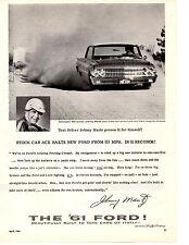 1961 FORD GALAXIE - JOHNNY MANTZ WINNER DARLINGTON 500 ~ ORIGINAL PRINT AD