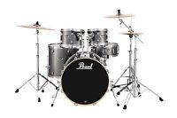 Drums Sets Pearl Export 5 Pc Drum Set With 830 Hardware Pack Grindstone Sparkle