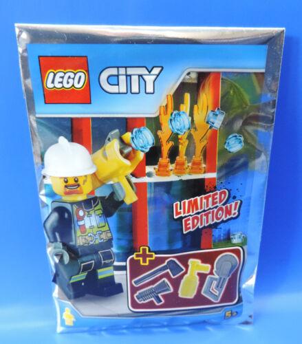 LEGO® City Limited Edition 951704 Feuerwehrmann mit Spritze und Zubehör// Polybag