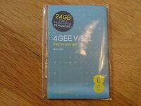 EE 4G Mobile Broadband Data PAYG Combi Sim Card 24GB Preloaded 4GEE 3G Trio Cut