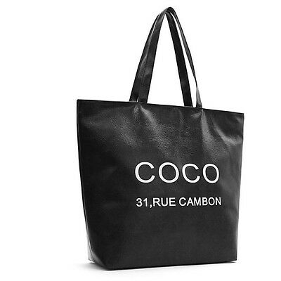 Women Shopper Bag Women Handbag Woman Bags Side Pocket Faux Leather N137