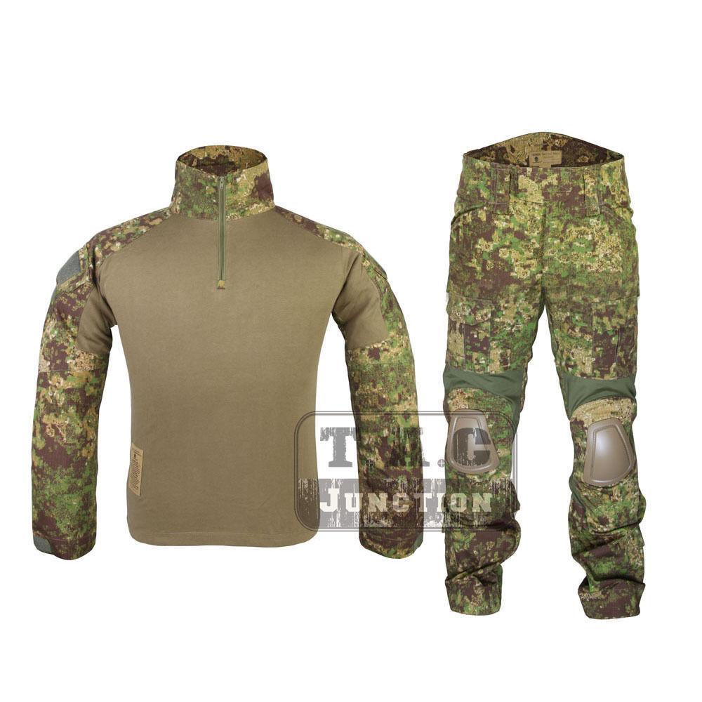 Emerson G2 Combat Shirt & Pants w  Elbow & Knee Pads Tactical BDU Uniform Set