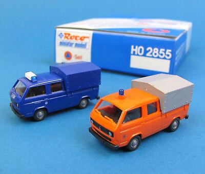 Roco H0 2855 Sonder-Set KATASTROPHENSCHUTZ VW T3 DoKa Pritsche Plane THW HO 1:87