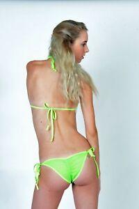 0a0baac22e7 TEASE green Mesh Back Micro Scrunch Butt Bikini w Princess Top USA ...